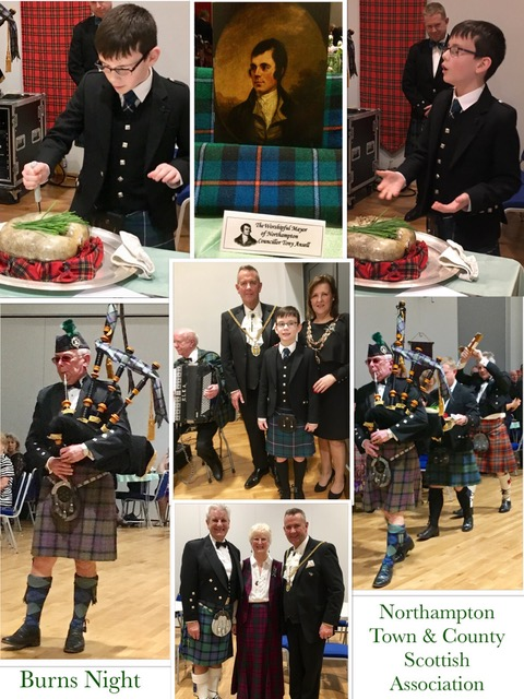 Burns Night collage